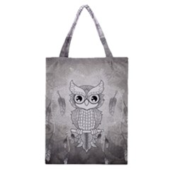 Wonderful Owl, Mandala Design Classic Tote Bag by FantasyWorld7