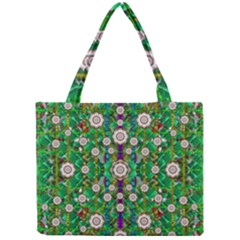 Pearl Flowers In The Glowing Forest Mini Tote Bag by pepitasart