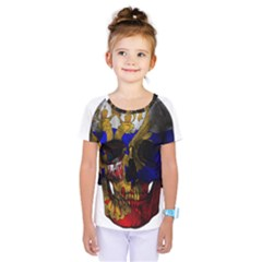 Russian Flag Skull Kids  One Piece Tee