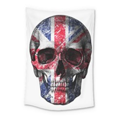 Uk Flag Skull Small Tapestry by Valentinaart