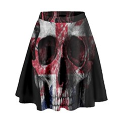 Uk Flag Skull High Waist Skirt by Valentinaart