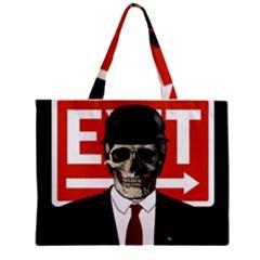 Dualism Zipper Mini Tote Bag by Valentinaart
