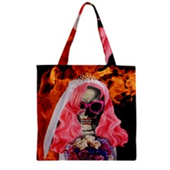 Bride From Hell Zipper Grocery Tote Bag by Valentinaart