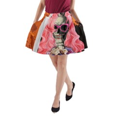 Bride From Hell A Line Pocket Skirt by Valentinaart
