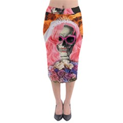 Bride From Hell Midi Pencil Skirt by Valentinaart