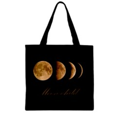 Moon Child Zipper Grocery Tote Bag by Valentinaart