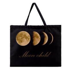 Moon Child Zipper Large Tote Bag by Valentinaart