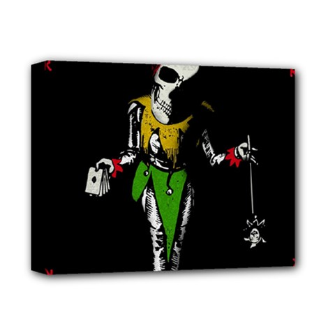 Joker  Deluxe Canvas 14  X 11  by Valentinaart