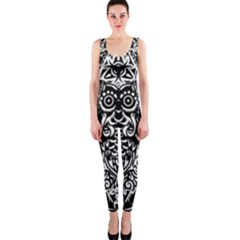 Tattoo Tribal Owl Onepiece Catsuit