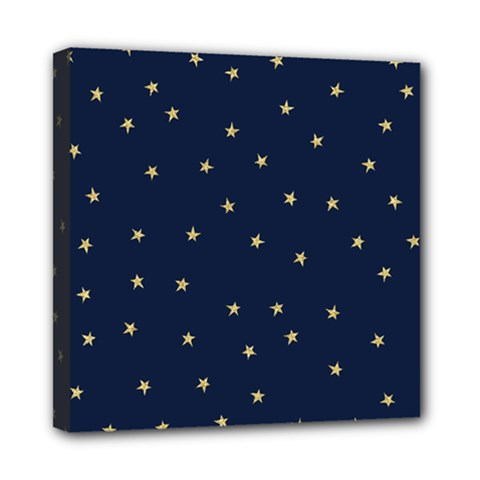 Navy/gold Stars Mini Canvas 8  X 8  by Colorfulart23