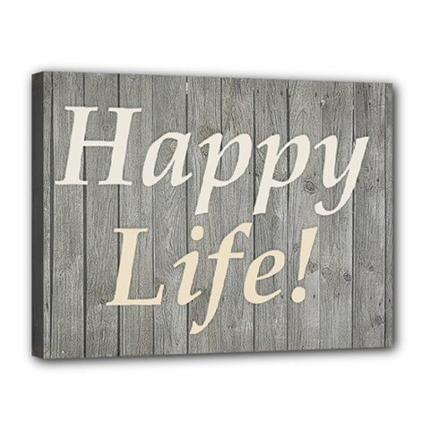 Happy Life Letters Shabby Style Poster Canvas 16  X 12  by dflcprints