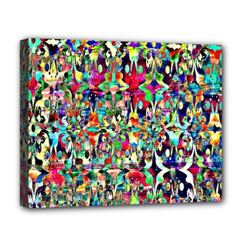 Psychedelic Background Deluxe Canvas 20  X 16   by Colorfulart23