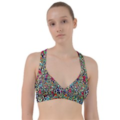 Psychedelic Background Sweetheart Sports Bra