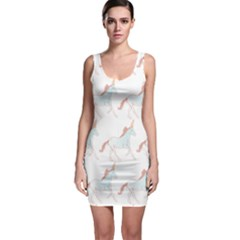 Unicorn Pattern Bodycon Dress by paulaoliveiradesign