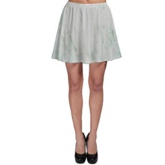 Greenish Marble Texture Pattern Skater Skirt by paulaoliveiradesign