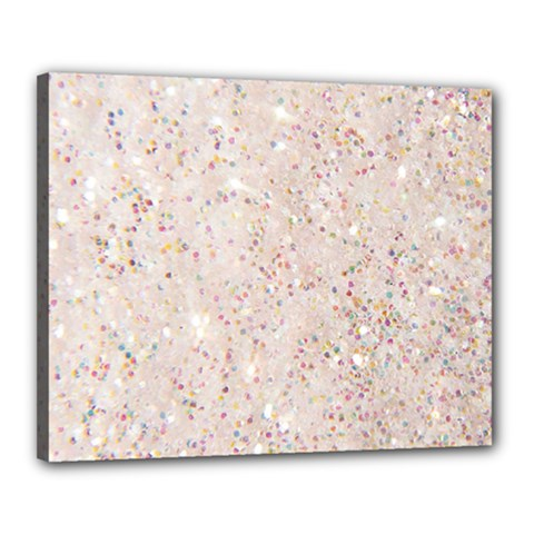 White Sparkle Glitter Pattern Canvas 20  X 16  by paulaoliveiradesign