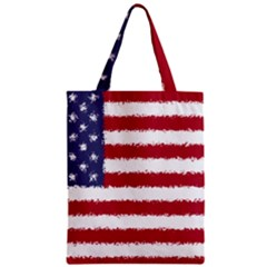 Flag Of The United States America Zipper Classic Tote Bag by paulaoliveiradesign