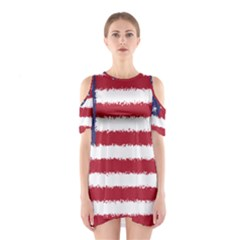 Flag Of The United States America Shoulder Cutout One Piece