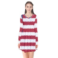 Flag Of The United States America Flare Dress by paulaoliveiradesign