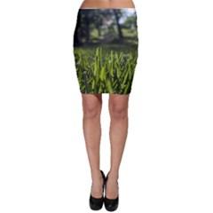Green Grass Field Bodycon Skirt