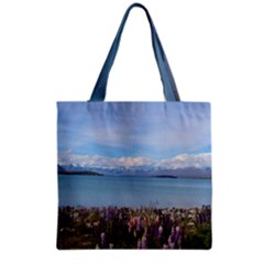 Lake Tekapo New Zealand Landscape Photography Grocery Tote Bag by paulaoliveiradesign