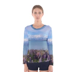 Lake Tekapo New Zealand Landscape Photography Women s Long Sleeve Tee by paulaoliveiradesign