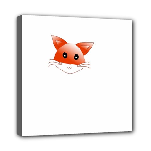 Animal Image Fox Mini Canvas 8  X 8