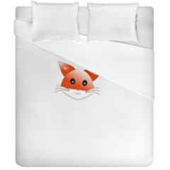Animal Image Fox Duvet Cover Double Side (california King Size)