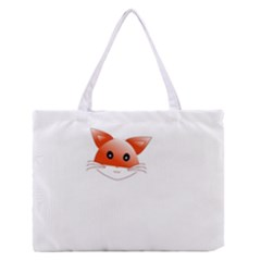 Animal Image Fox Medium Zipper Tote Bag