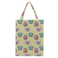 Animals Pastel Children Colorful Classic Tote Bag by BangZart