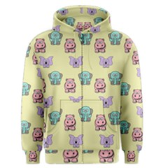 Animals Pastel Children Colorful Men s Zipper Hoodie by BangZart