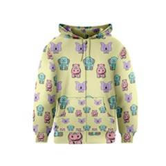 Animals Pastel Children Colorful Kids  Zipper Hoodie