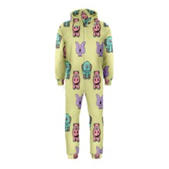 Animals Pastel Children Colorful Hooded Jumpsuit (kids)