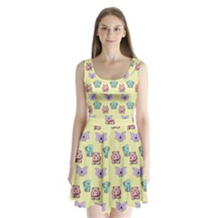 Animals Pastel Children Colorful Split Back Mini Dress