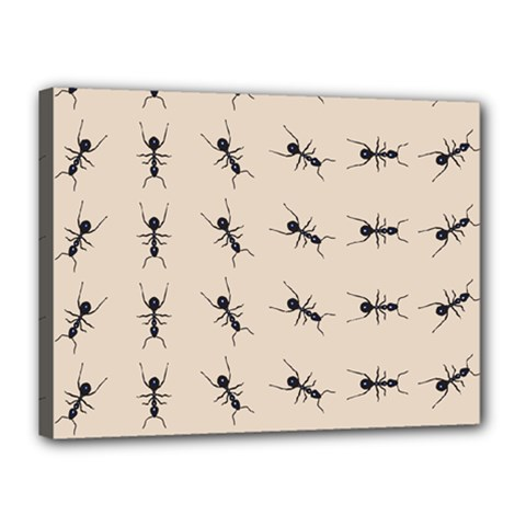 Ants Pattern Canvas 16  X 12  by BangZart