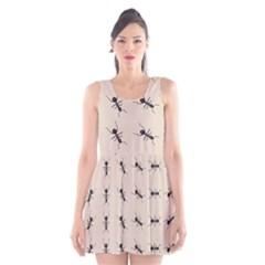 Ants Pattern Scoop Neck Skater Dress