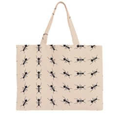 Ants Pattern Zipper Large Tote Bag by BangZart