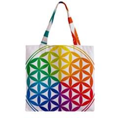 Heart Energy Medicine Zipper Grocery Tote Bag by BangZart