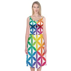 Heart Energy Medicine Midi Sleeveless Dress by BangZart