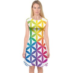 Heart Energy Medicine Capsleeve Midi Dress