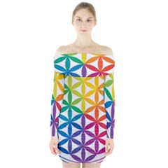 Heart Energy Medicine Long Sleeve Off Shoulder Dress