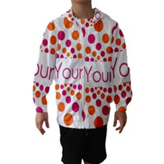 Be Yourself Pink Orange Dots Circular Hooded Wind Breaker (kids)