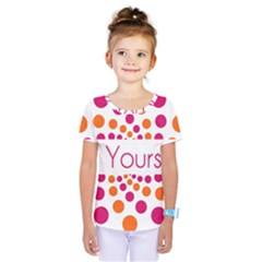 Be Yourself Pink Orange Dots Circular Kids  One Piece Tee