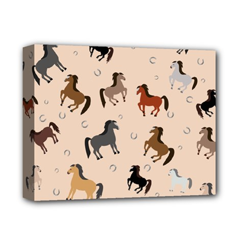 Horses For Courses Pattern Deluxe Canvas 14  X 11