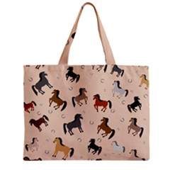 Horses For Courses Pattern Zipper Mini Tote Bag by BangZart