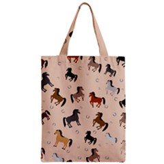 Horses For Courses Pattern Zipper Classic Tote Bag