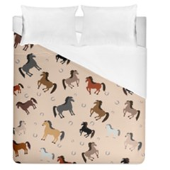 Horses For Courses Pattern Duvet Cover (queen Size) by BangZart