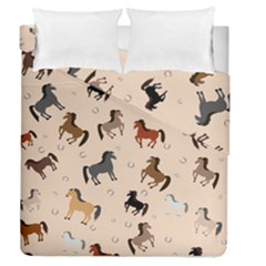 Horses For Courses Pattern Duvet Cover Double Side (queen Size) by BangZart