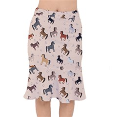 Horses For Courses Pattern Mermaid Skirt by BangZart
