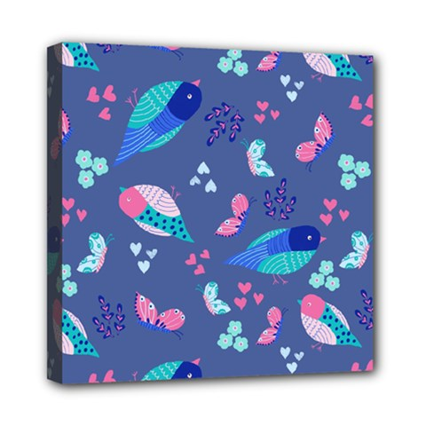 Birds And Butterflies Mini Canvas 8  X 8  by BangZart
